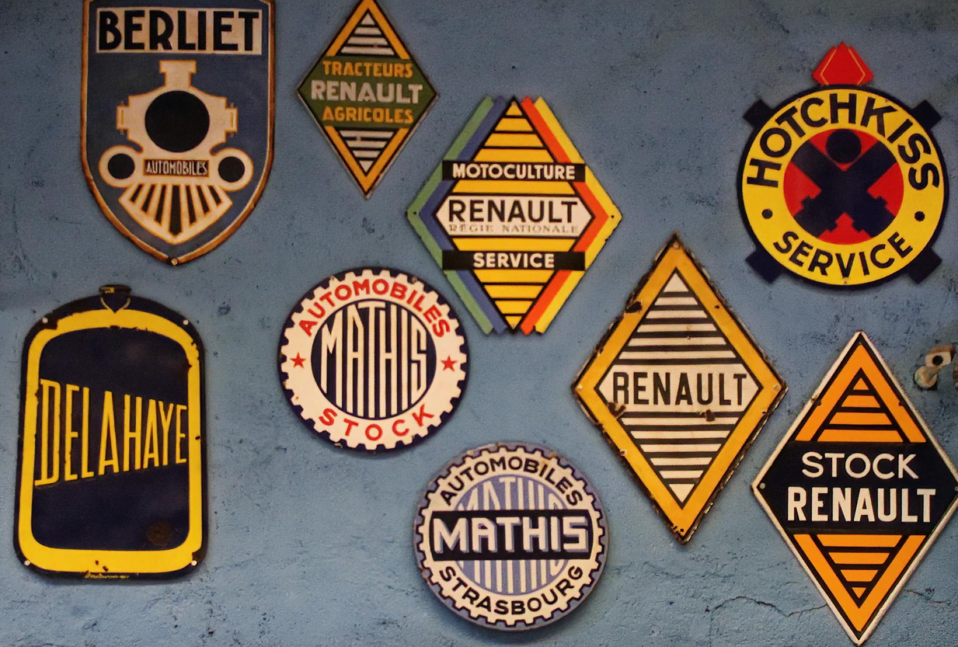 Plaques émaillées Musée Automobile Reims Champagne 2